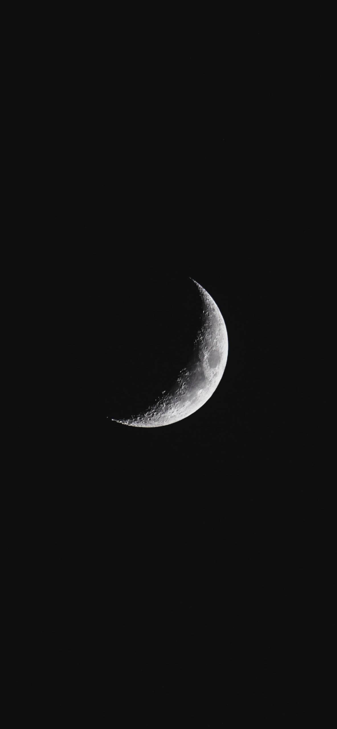 iPhone wallpapers moon quarter Moon