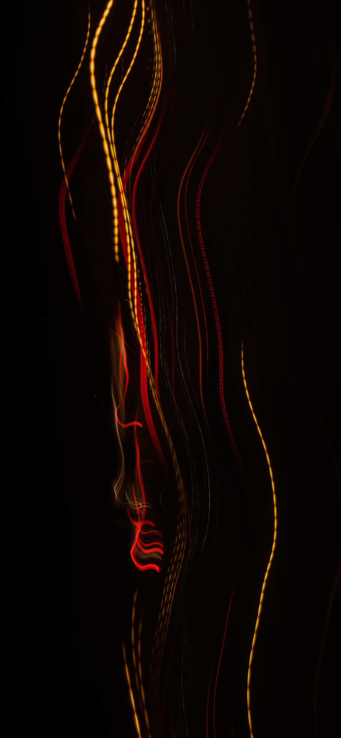 iPhone wallpapers abstract red yellow lights scaled Abstract