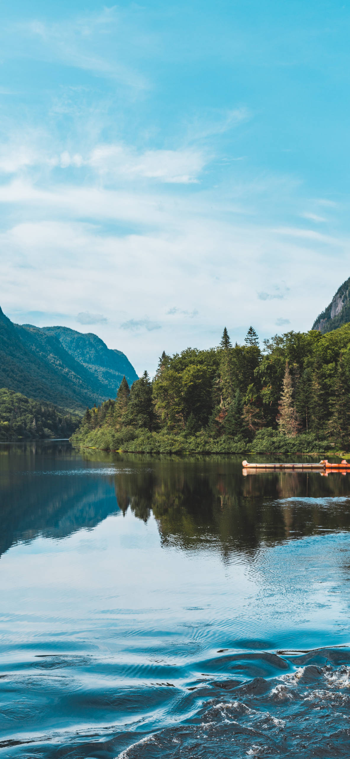 iPhone wallpapers lake jacques cartier national park Lake