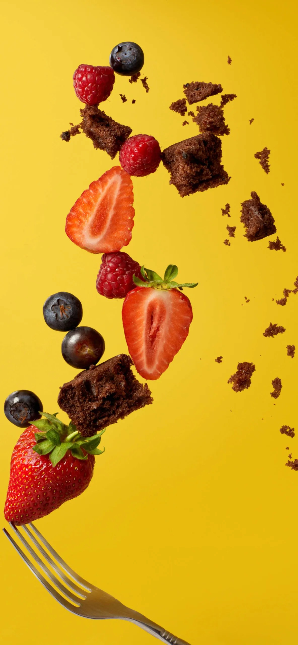 iPhone wallpapers fruits strawberry chocolate scaled Fruits