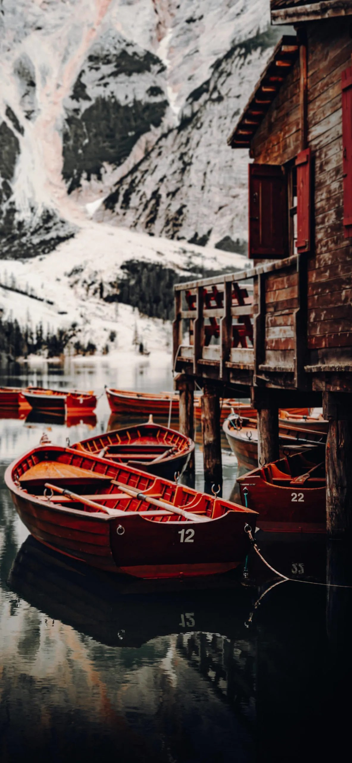 iPhone wallpapers lago di braies scaled River