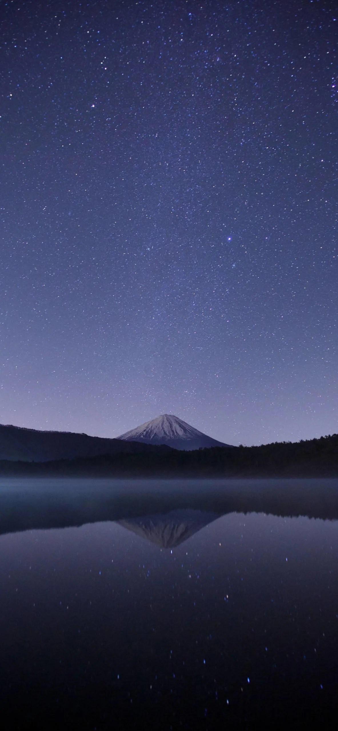 iPhone wallpapers stars volcano lake reflection scaled Stars