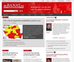 deBanat.ro – site mass-media pe wordpress – redesign