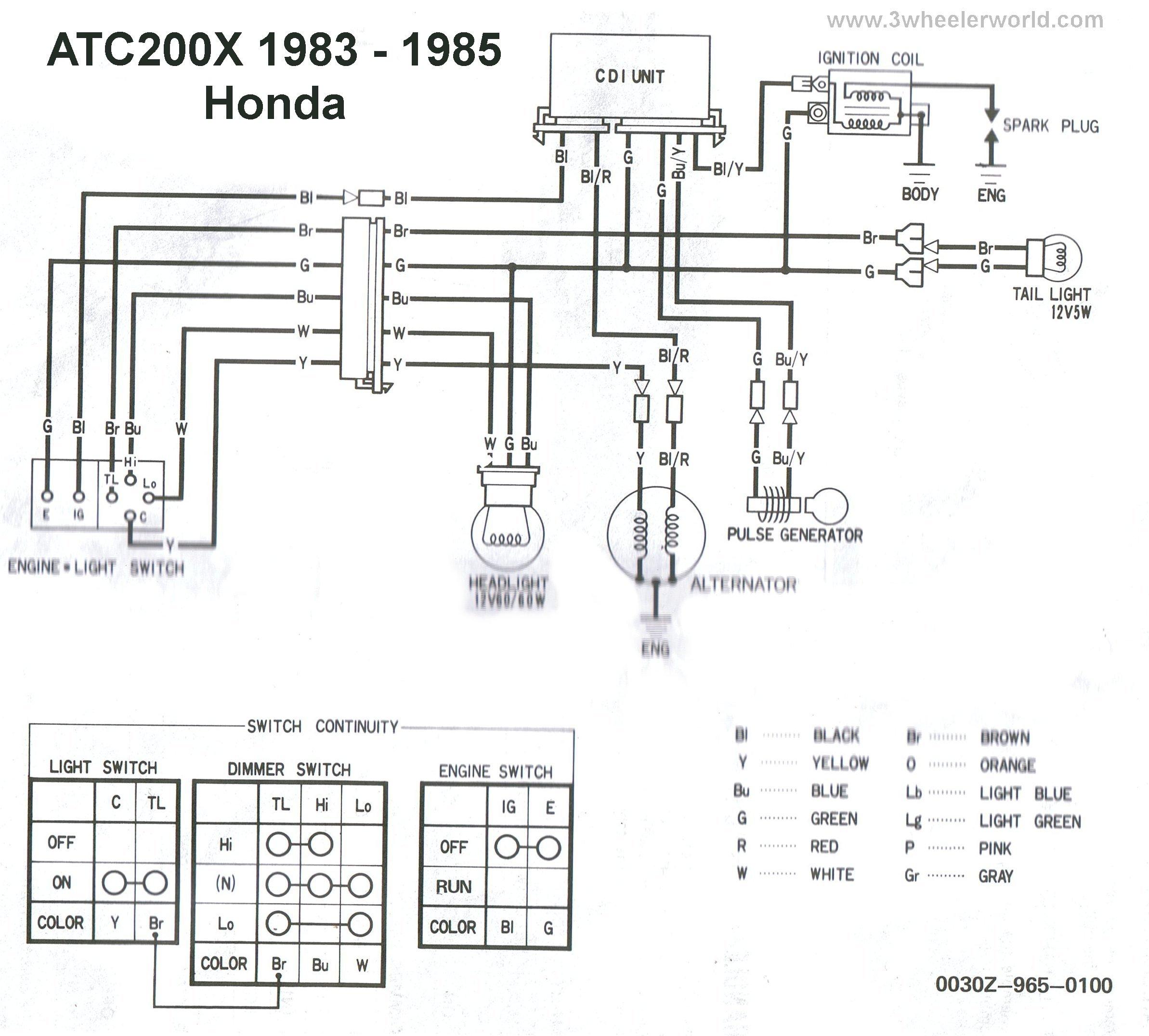wiring diagram on a 1990 honda 300 4 wheeler wiring free