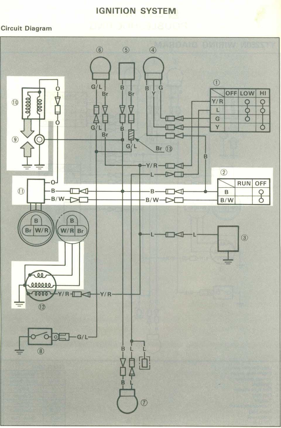 hight resolution of motorcycle wiring diagrams tri z ytz250n 1985
