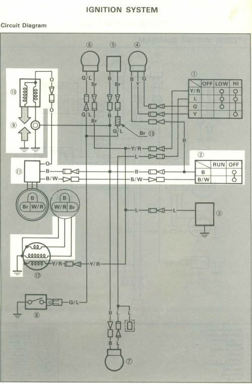 small resolution of motorcycle wiring diagrams tri z ytz250n 1985