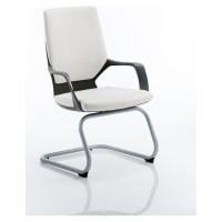 Xenon Visitor Cantilever Black Chair White Leather With ...