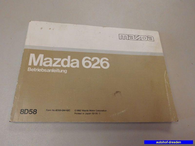 1992 Mazda 626 Owners Manual