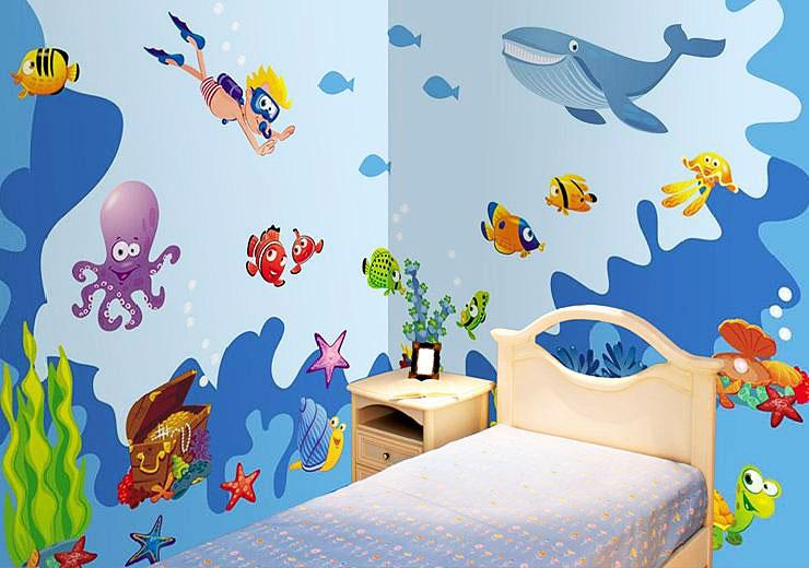 Wandsticker Unterwasser FischeFly my Butterfly Kinderzimmer