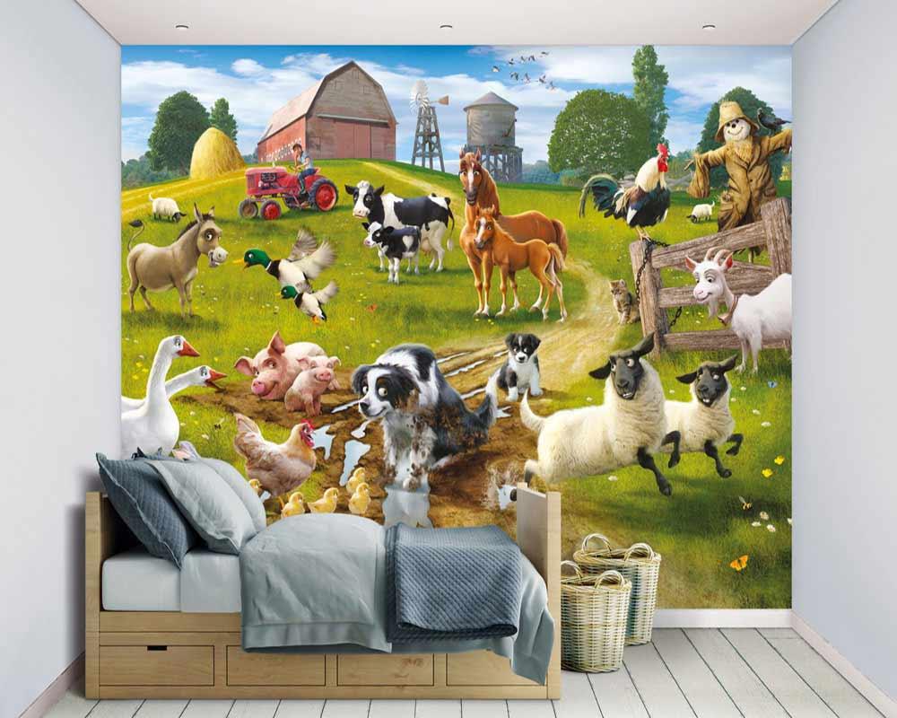 Walltastic Fototapete Kinderzimmer Wandbild Tiere