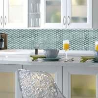 Fliesenspiegel Mosaik blau Bad Küche