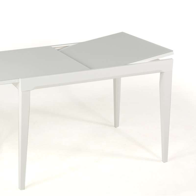 amazing table verre fly rallonge fly table ronde blanche with ikea table ronde avec rallonge - Table Ronde Avec Rallonge Blanche