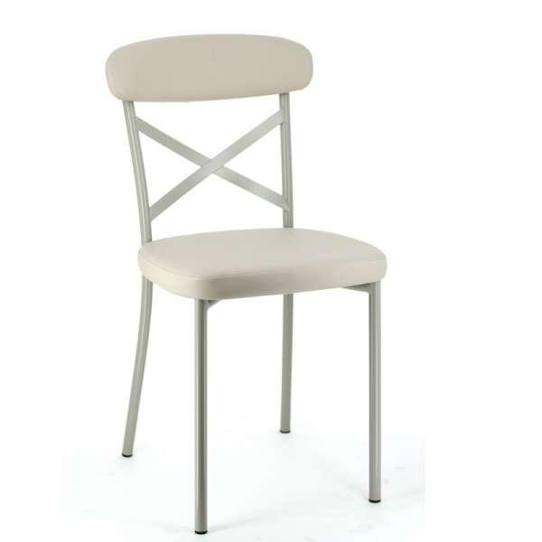 Chaise de cuisine en synthtique et mtal  Calia  4piedscom