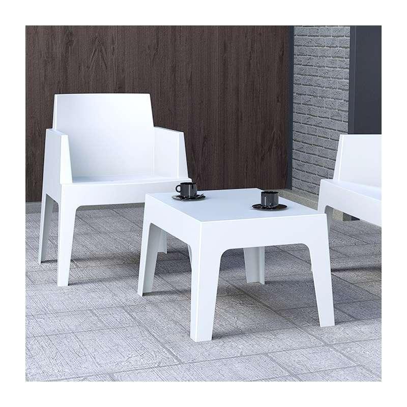 Table basse de jardin en polypropylne  Box  4 Pieds  tables chaises et tabourets