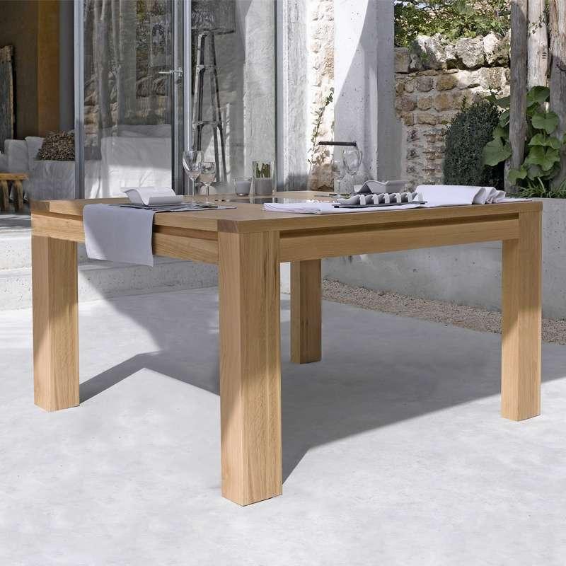 Table de salle  manger en chne massif  Conception G  4piedscom