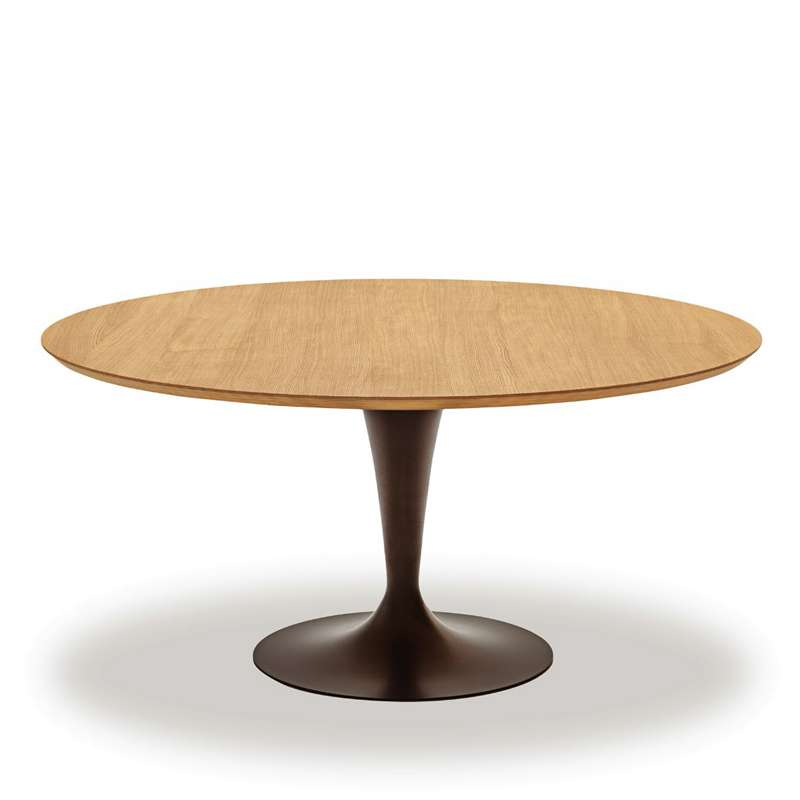 Table ronde design plateau bois  Flte Sovet  4piedscom