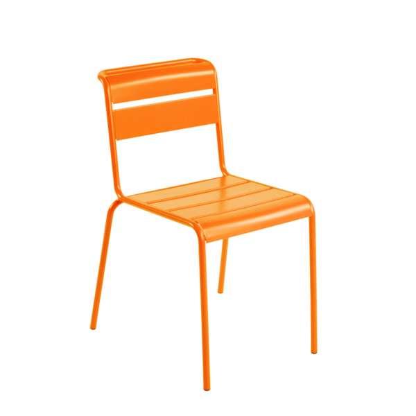 Chaise de jardin rtro en mtal  Lutetia  4piedscom