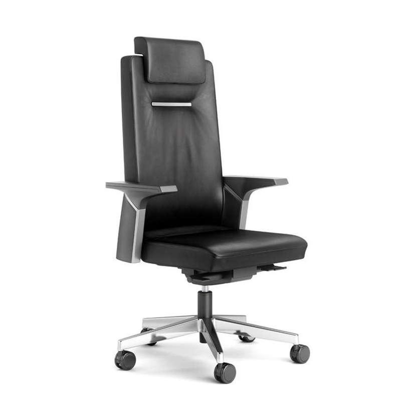 fauteuil de direction en cuir avec roulettes k01 1