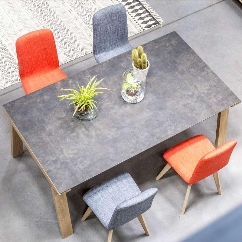 Table de salle  manger en cramique rectangulaire  Cera concept V  4 Pieds  tables chaises