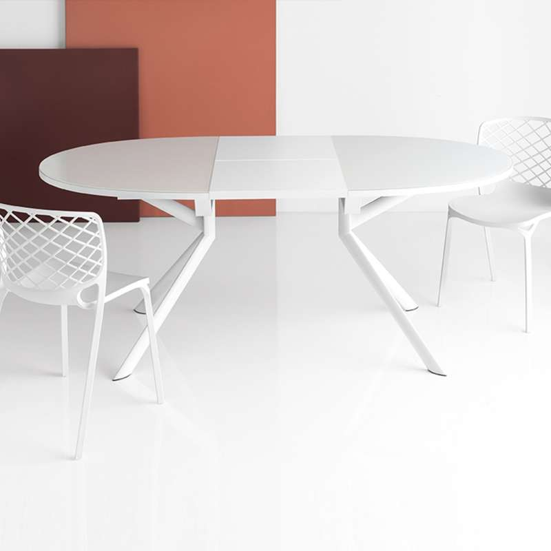Table Ovale Extensible En Verre Giove Connubia 4