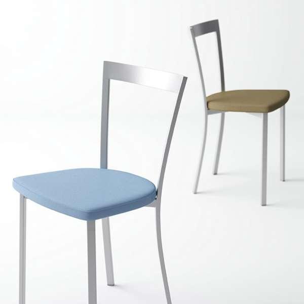 Chaise de cuisine moderne en synthtique et mtal  Spirit  4piedscom