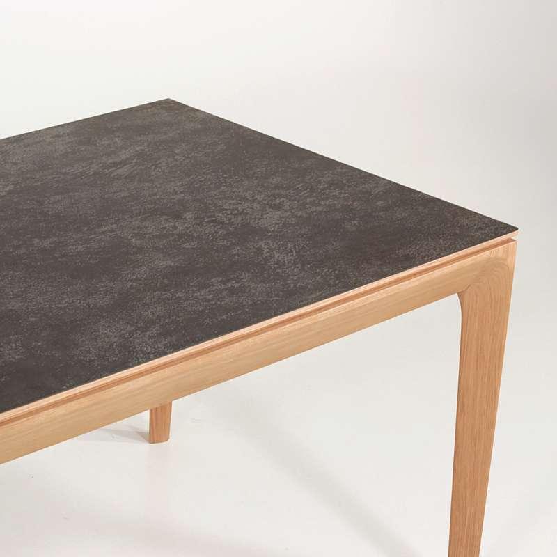 table de salle a manger made in france extensible en ceramique anthracite buzz 7