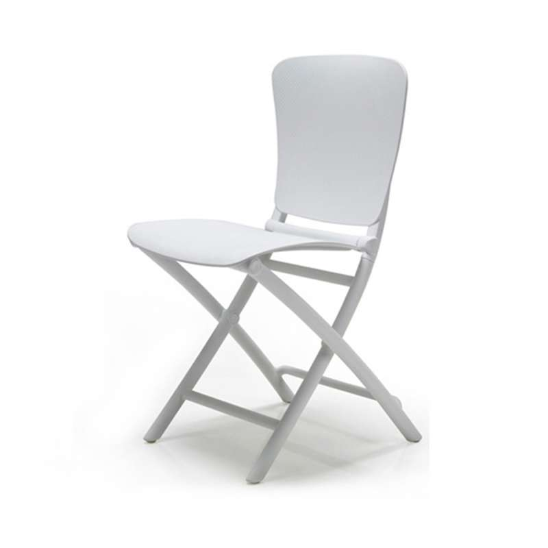 chaise d appoint pliante blanche zac classic 2