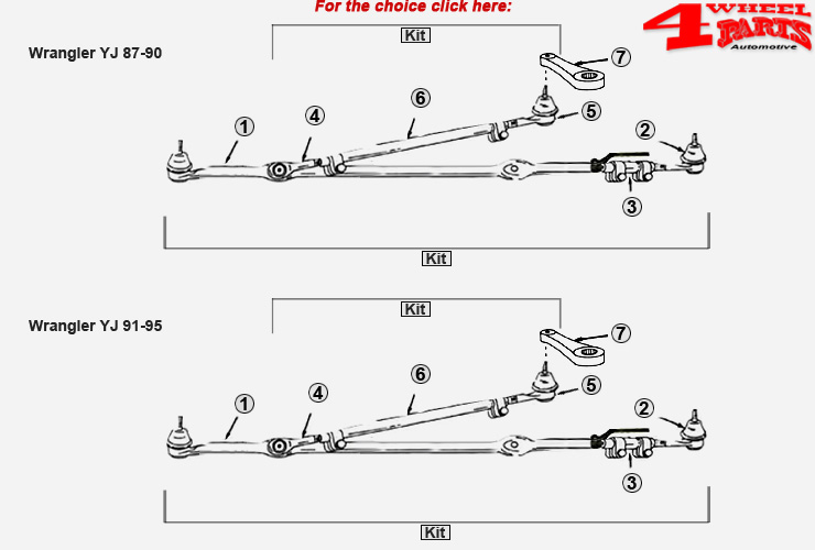 4 Wheel Parts-Jeep Wrangler YJ Suspension & Steering