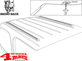 Overhead Rhino Rack Rail Kit for Hardtop Jeep Wrangler TJ