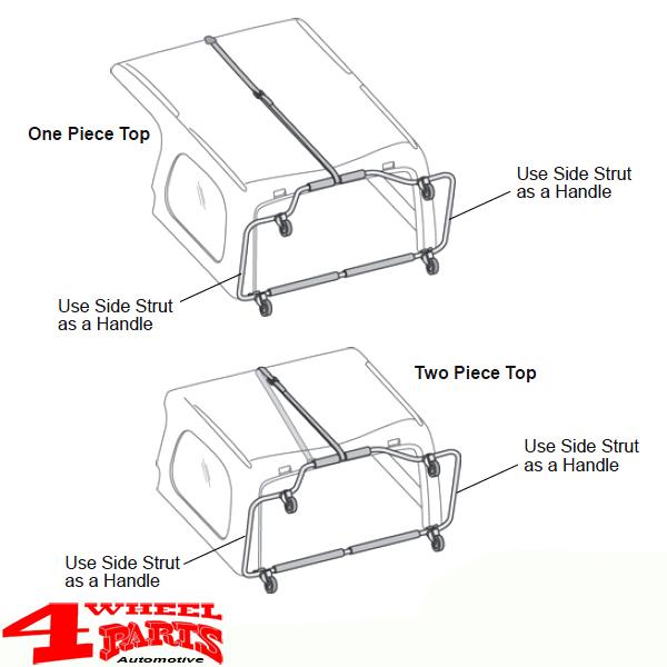 Hardtop Cart System HOSS from Bestop Jeep Wrangler YJ TJ