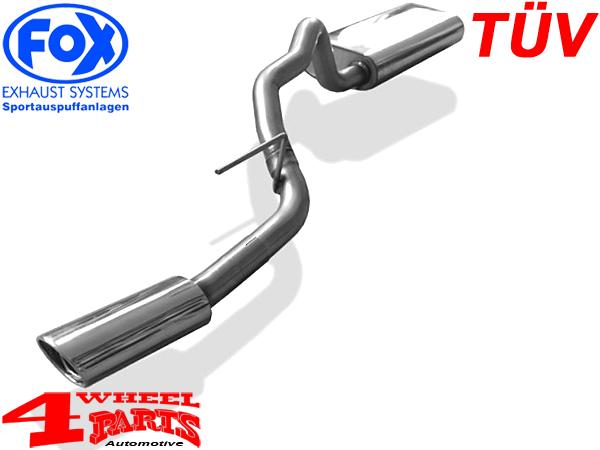 stainless steel muffler single pipe tuv cherokee kj year 01 05