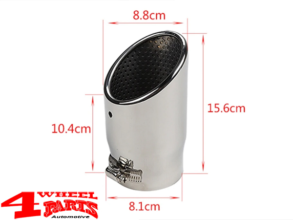 exhaust tip stainless steel o 88mm jeep