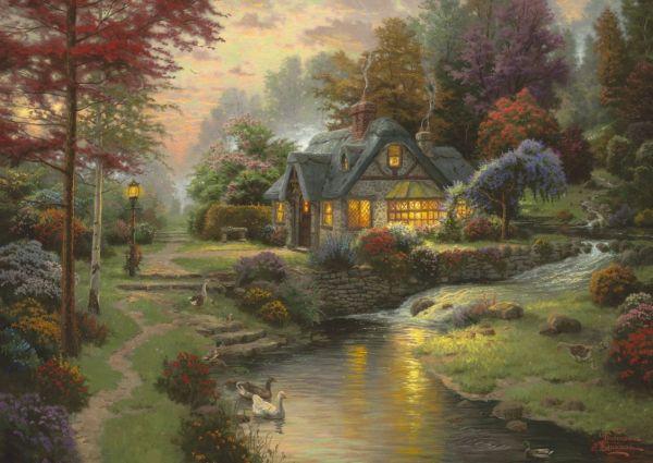 Puzzle Thomas Kinkade - Calme Vespral