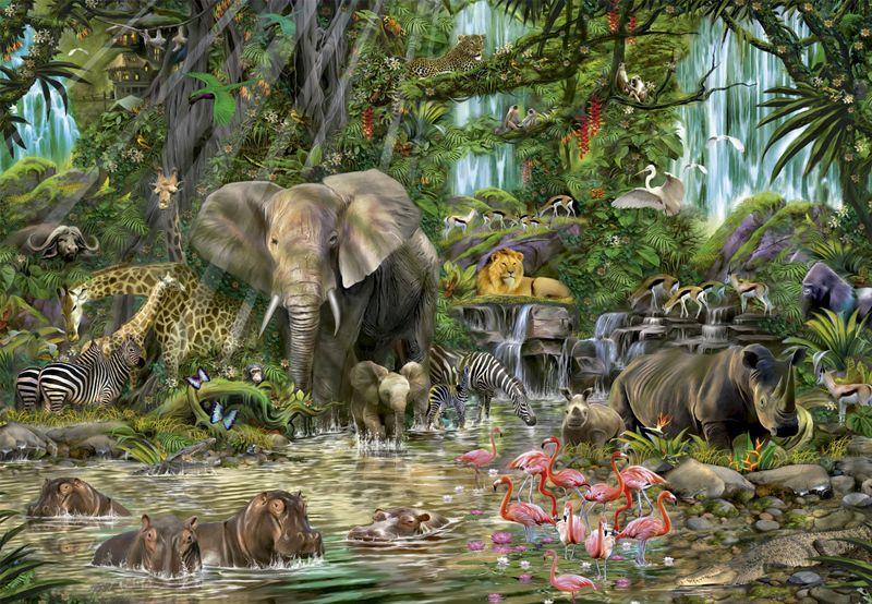Puzzle Jungle Africaine