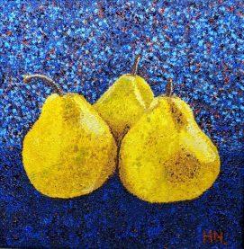 Pointillism Pears by Helen Norfolk