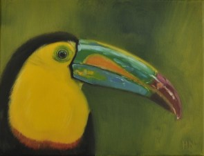 Toucan by Helen Norfolk, Oil on Canvas SOLD