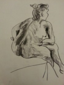 Nude by Sibel Roller-Walach, Charcoal, 2013