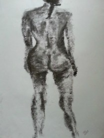 Nude by Sibel Roller-Walach, Charcoal 2013