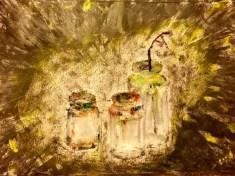 Paint pots in oil paint 2016 by Liza Leong