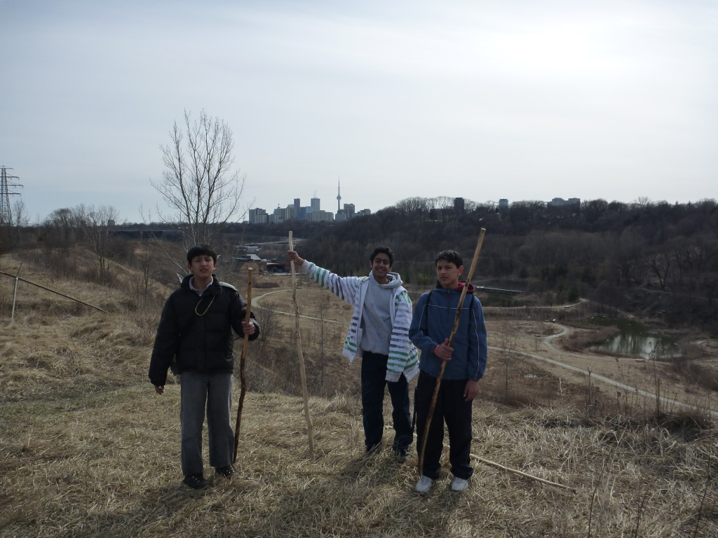 Scout hike in the Don Valley