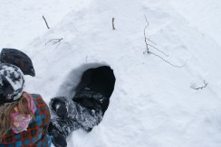 Building a quinzy or snow cave