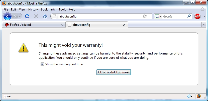 I didn't know I had a warranty to void.