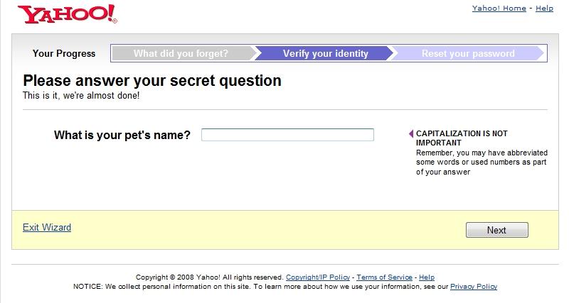 """Secret"" questions"