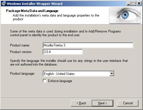Windows Installer Wrapper Wizard and a Better Firefox 3
