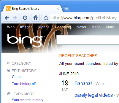 bing s search history via proxy 404 tech support