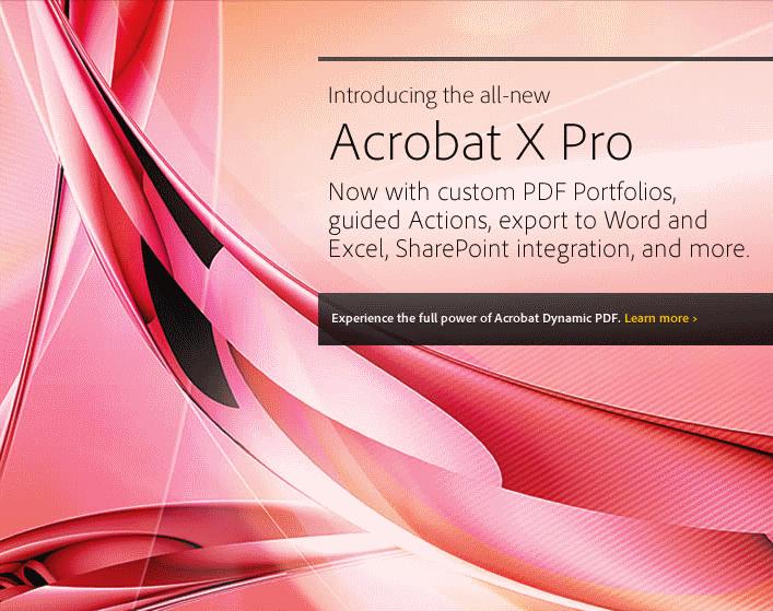 Adobe Announces Adobe Reader X and Acrobat X