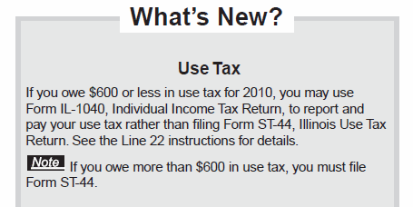 Line 22 Of Your Illinois State Taxes IL-1040, or Reporting