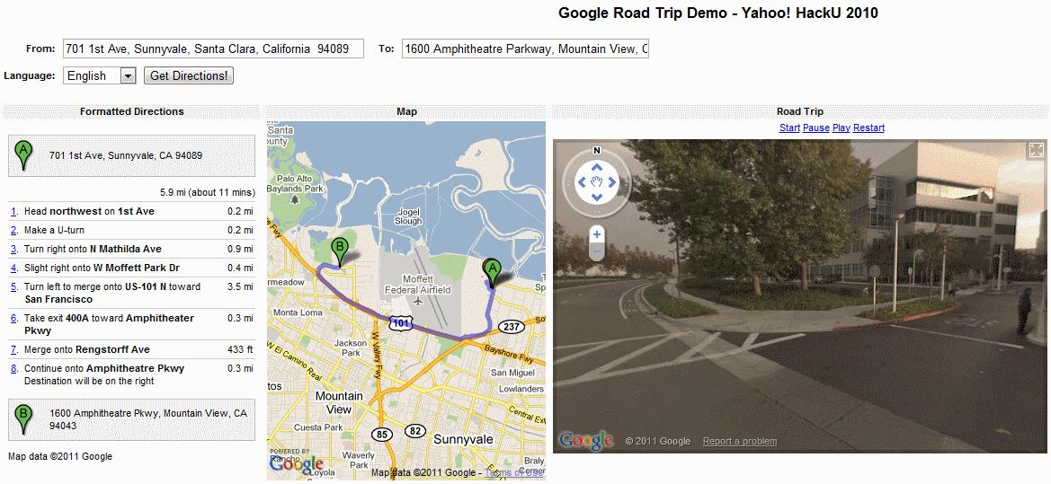 google-road-trip Google Map Road Trip on google transformers, google war horse, google the internship, google shrek,