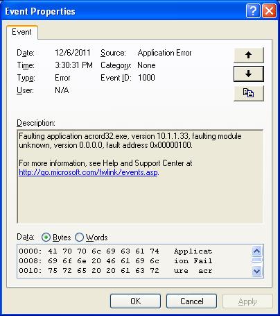 msvcr120.dll adobe crash