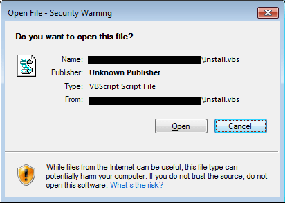 Windows Open File Security Warning interferes with automated